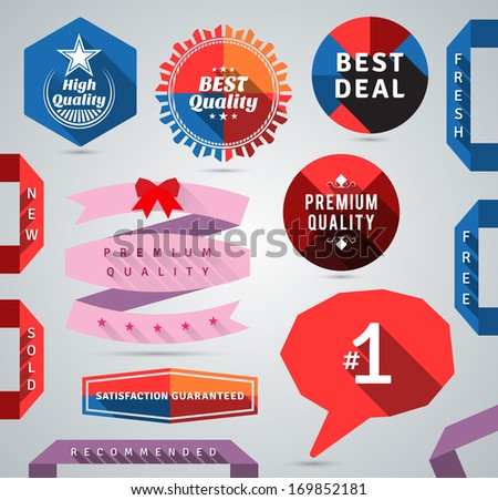 Modern promo design elements. EPS10. - stock vector