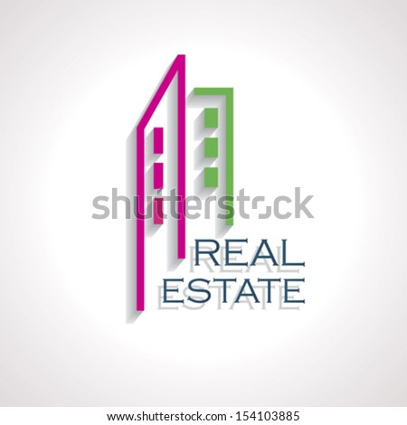Modern Real estate icon for business design. Vector illustration - stock vector