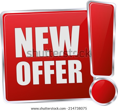modern red new offer vector eps10 sign - stock vector