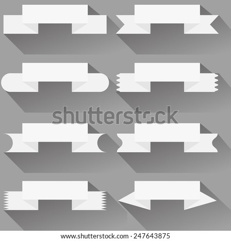 Modern  ribbons and banners for your text. Isolated on white background. Vector illustration. - stock vector