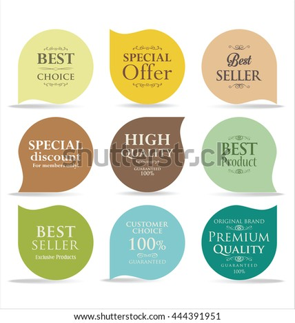 Modern sale badges collection  - stock vector