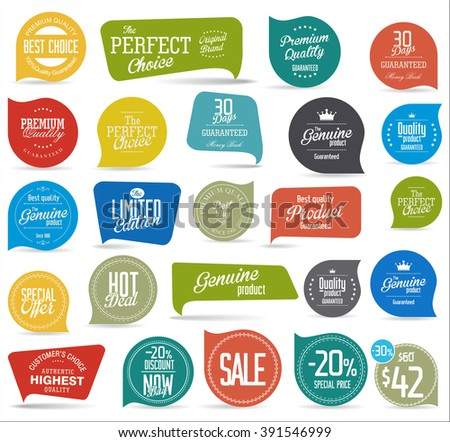 Modern sale sticker collection - stock vector