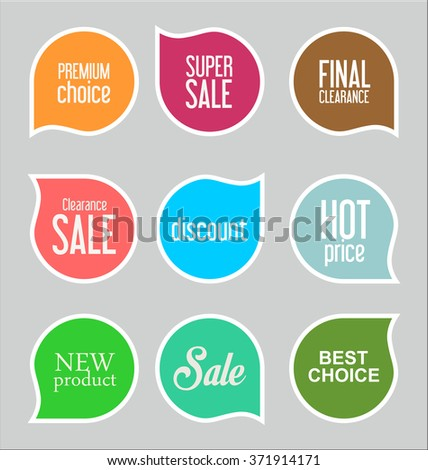 Modern sale stickers collection  - stock vector