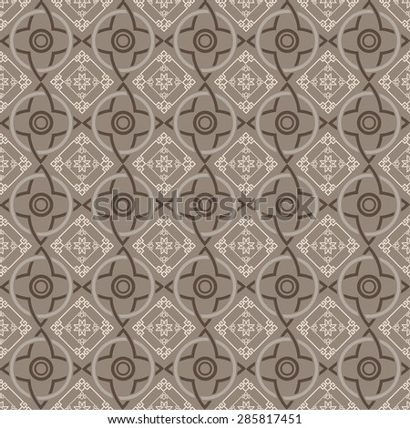Modern seamless pattern Chinese stylish texture geometric tiles wallpaper pattern background in retro style for your design placard book cover design poster invitation wallpaper for wall vector  - stock vector