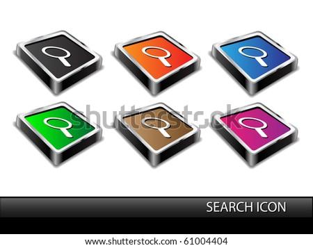 Modern search icon.Vector - stock vector