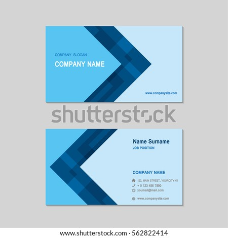 Modern simple business card set template stock vector 562822414 modern simple business card set template design template vector illustration colourmoves