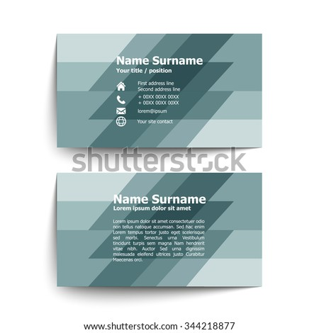 Modern simple business card set template stock vector 344218877 modern simple business card set template or visiting card vector illustration colourmoves