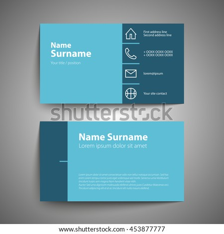 Modern simple business card set template stock vector 453877777 modern simple business card set template stock vector 453877777 shutterstock colourmoves