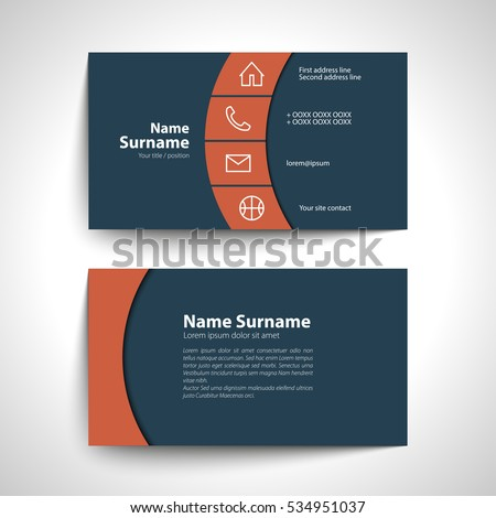Modern simple business card set template stock vector 534951037 modern simple business card set template or visiting card vector illustration reheart Gallery
