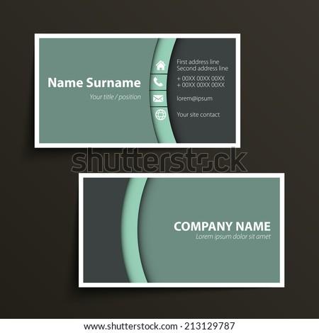 Modern Simple Business Card Template Vector Stock Vector - Simple business cards templates