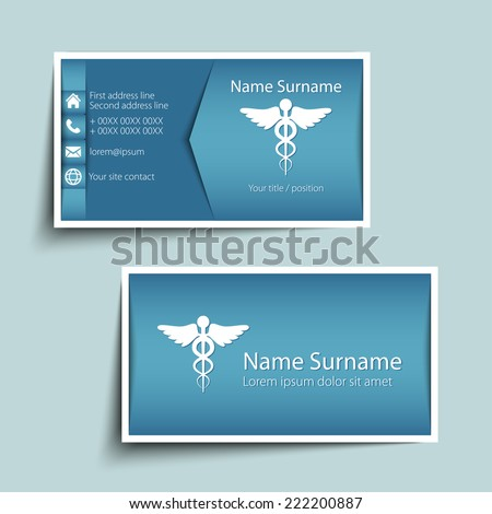 Modern simple business card template vector stock vector 2018 modern simple business card template vector format reheart Gallery