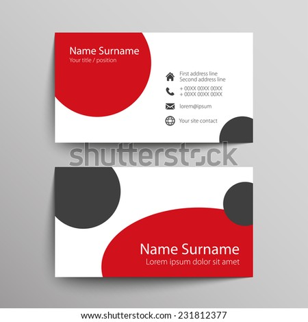 Modern simple business card template vector stock vector 231812377 modern simple business card template vector format colourmoves
