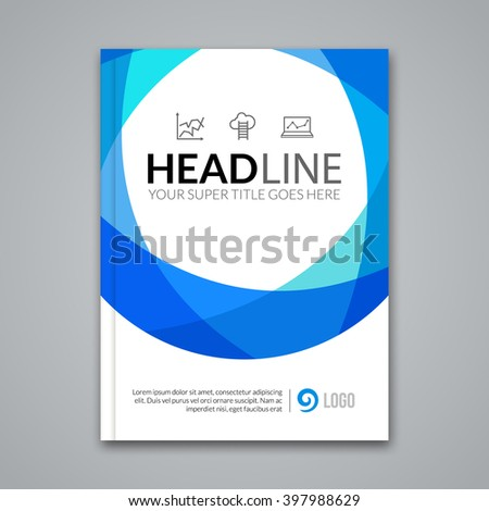 Modern simple colorful circle Vector Template for Business Brochure, Report, Poster, Banner or Flyer Design. Flyer mockup template. - stock vector