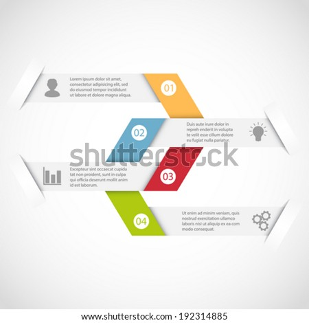Modern simple design infographic template - stock vector