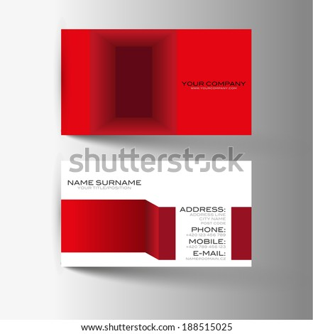 Modern simple light business card - stock vector