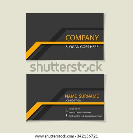 Modern simple light business card template - Flat Design - Vector Illustration - stock vector