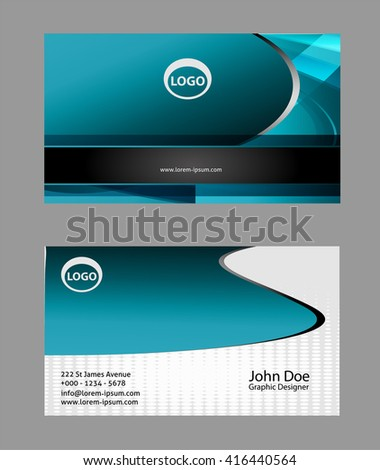 Modern simple luxury standard business card stock photo photo modern simple luxury standard business card design with sharp corners reheart Images