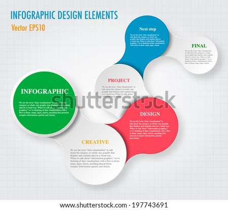 Modern Simply infographic step by step template ,Vector illustration. can be used for workflow layout, diagram,  step up options, web template, infographics - stock vector