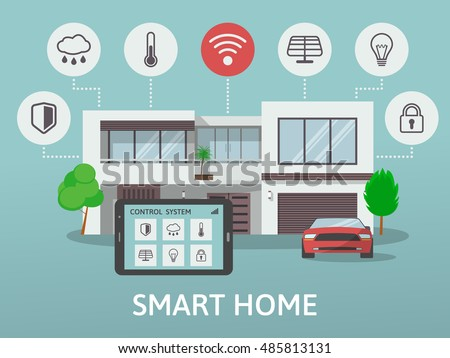 modern houses set real estate signs stock vector 491791420. Black Bedroom Furniture Sets. Home Design Ideas