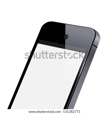 Modern smart phone close-up. Vector EPS10 - stock vector