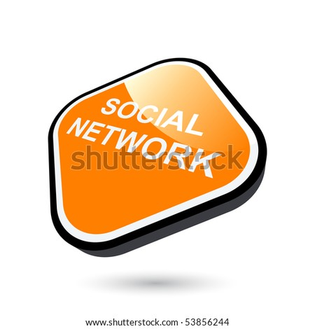 modern social network sign - stock vector