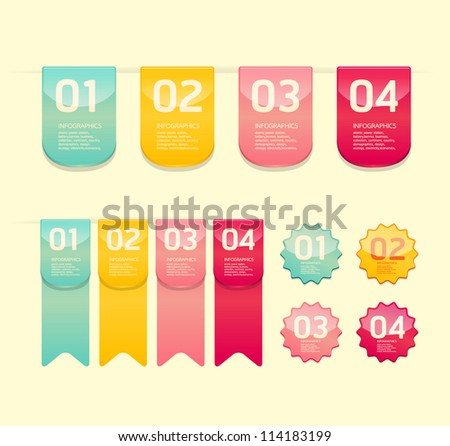 Modern soft color  Design button  / can be used for infographics / numbered banners / horizontal cutout lines / graphic or website layout vector - stock vector