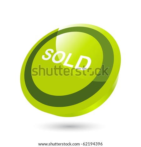 modern sold sign - stock vector