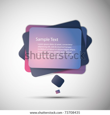 Modern Speech Bubble - stock vector
