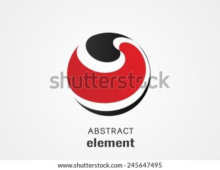 Modern sphere circle Vector illustration.can be used as symbol, logo, label, emblem.  - stock vector