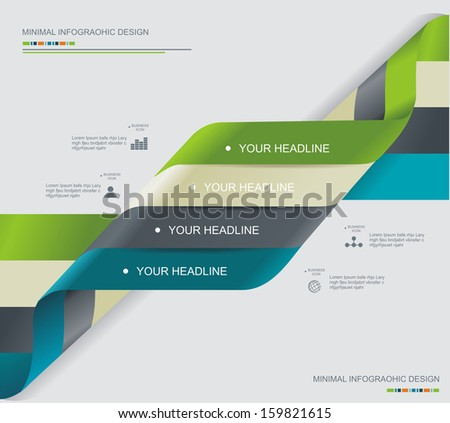 Modern spiral infographics options banner. Can be used for diagram, number options, steps banners, workflow layout, web design.  - stock vector