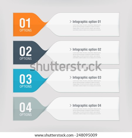 Modern spiral infographics options banner. Vector illustration. can be used for workflow layout, diagram, number options, web design - stock vector