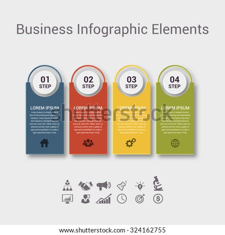 Modern spiral infographics options banner. Vector illustration. can be used for workflow layout, diagram, number options, web design. - stock vector