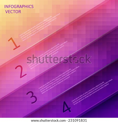 Modern spiral infographics options banner. Vector illustration. can be used for workflow number options, web design. eps 10 - stock vector
