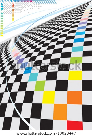 Modern square space design, vector illustration layers file.