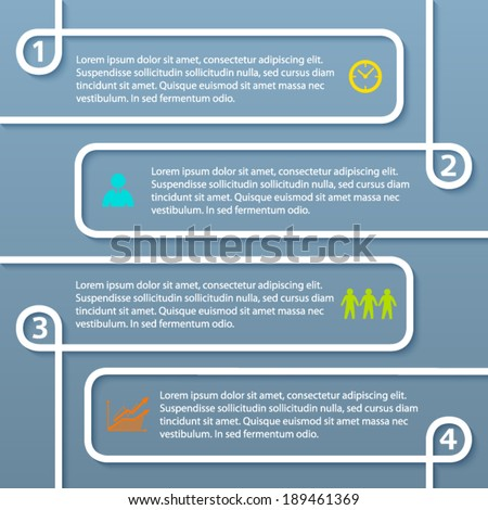 Modern style infographics design elements with lines on grey background. Abstract shape. Vector illustration eps 10  - stock vector