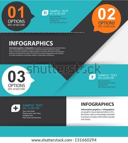 Modern Style Options Banner Web Design Stock Vector 131660294