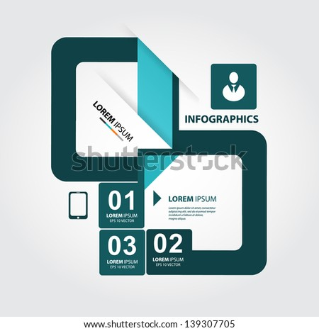 Modern style, options banner. Web design, infographics. Number options. NEW - stock vector