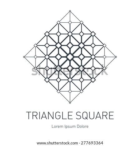 modern stylish logo design element squares stock vector 277693364