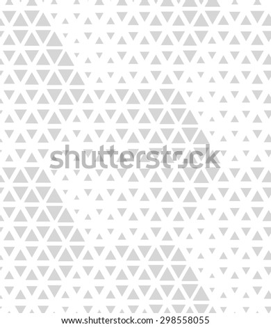 Modern stylish texture of the hexagons,triangles. Vector seamless pattern. Repeating geometric tiles. White and gray texture. - stock vector