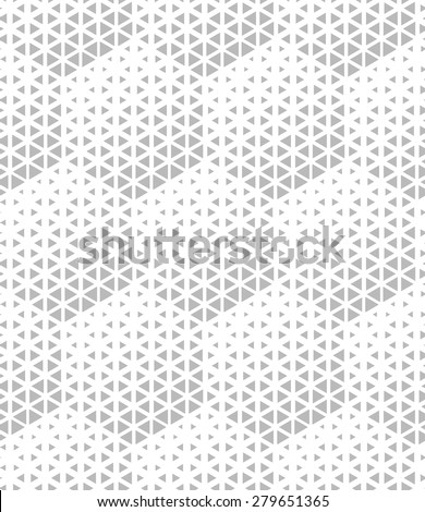 Modern stylish texture of the hexagons. Vector seamless pattern. Repeating geometric tiles. White and gray texture. - stock vector