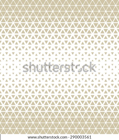 Modern stylish texture of the triangles and hexagons. Vector seamless pattern. Repeating geometric tiles.  - stock vector
