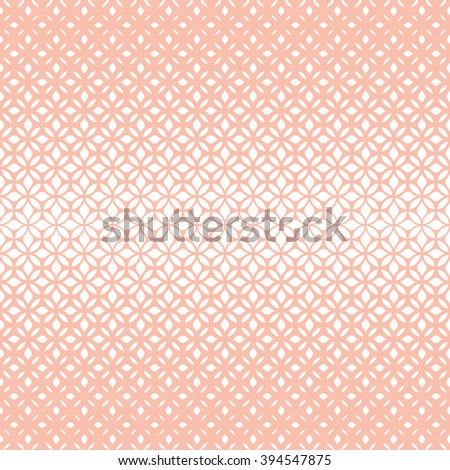 Modern stylish texture with flowers. Seamless vector pattern. Repeating geometric tiles. Pink and white ornament - stock vector