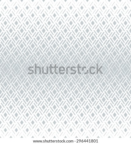 Modern stylish texture with rhombus. Vector seamless pattern. Repeating geometric tiles. White and gray texture. - stock vector