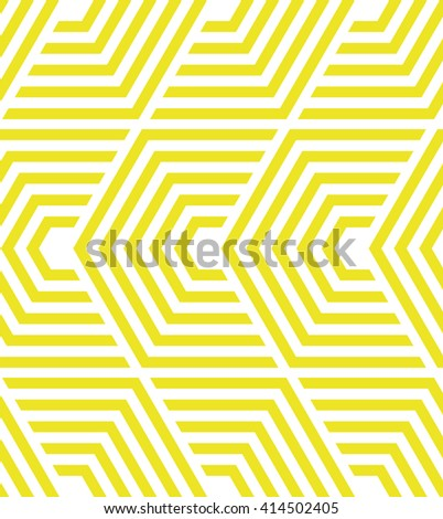 Modern stylish texture with strips,  lines.Vector seamless pattern. Repeating geometric tiles. White and yellow texture - stock vector