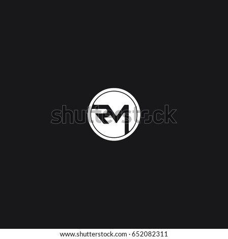 Modern stylish unique connected geometric tech black and white RM MR R M  initial based letter icon. Rm Stock Images  Royalty Free Images   Vectors   Shutterstock