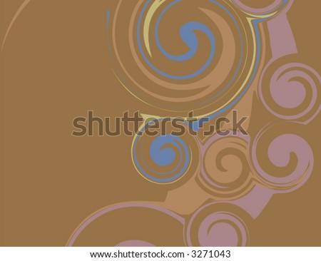 Modern Swirl Vector Artwork - stock vector
