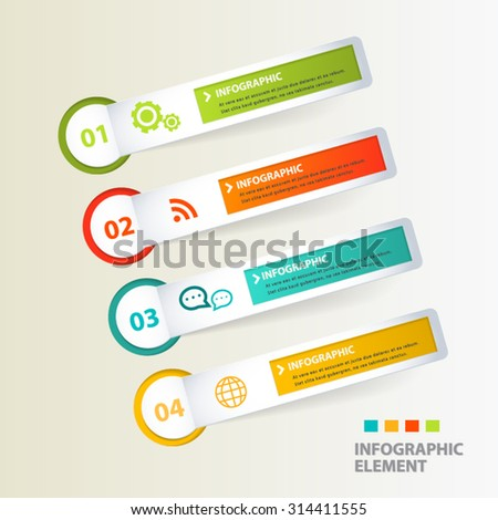 Modern tag vector abstract 3d  banner. - stock vector