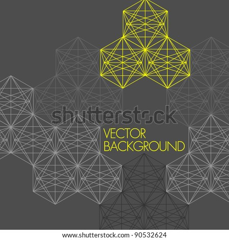 Modern Technology Background - stock vector