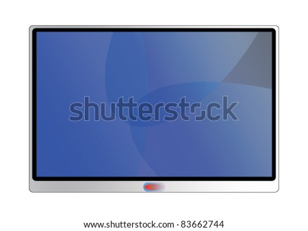 Modern television screen - stock vector