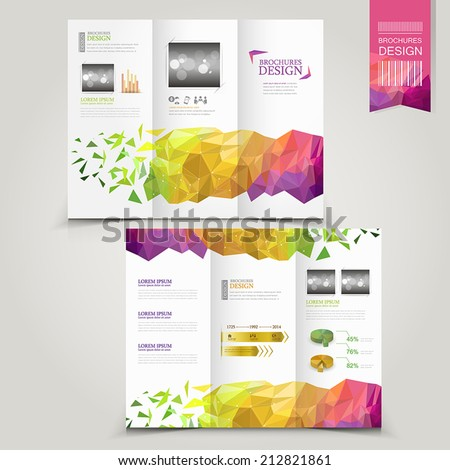 modern template for advertising concept brochure with geometric shapes element - stock vector